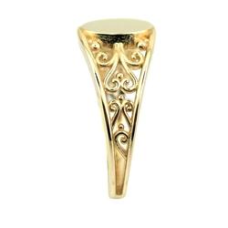 Özel Tasarım Harfli Altın Yüzük (14 Ayar) - Thumbnail