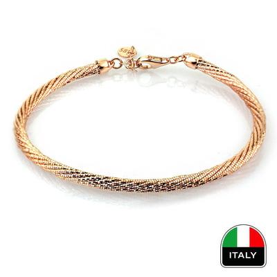 kuyumcunuznet - Rose İtalyan Altın Kelepçe (14 Ayar)