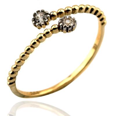 kuyumcunuznet - Rose Taşlı Eklem Yüzüğü (14 Ayar)