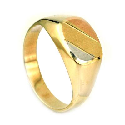 kuyumcunuznet - Sade Taşsız Altın Erkek Yüzük (14 Ayar)