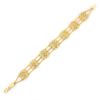 kuyumcunuznet - Sarı Altın Künye Bileklik (14 Ayar)