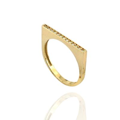 kuyumcunuznet - Tasarım Altın Taşlı Yüzük (14 Ayar)