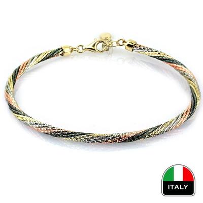 kuyumcunuznet - Tasarım Günlük İtalyan Altın Kelepçe Bileklik (14 Ayar)