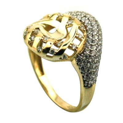 kuyumcunuznet - Taşlı Fanrazi Altın Yüzük (14 Ayar)