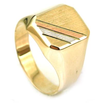 kuyumcunuznet - Taşsız Altın Erkek Yüzüğü (14 Ayar)