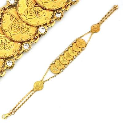 Tuğralı Altın Bileklik Künye (14 Ayar)