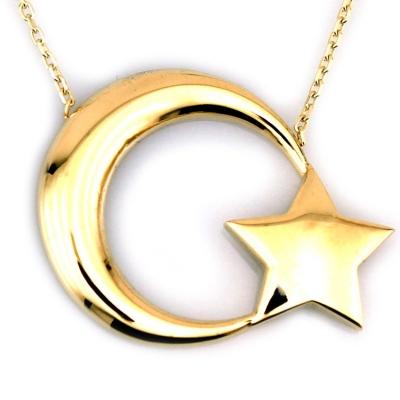 kuyumcunuznet - Türk Bayrağı Altın Kolye (8 Ayar)