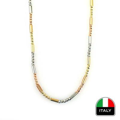Üç Renk Zarif İtalyan Altın Zincir (14 Ayar)
