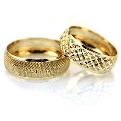 kuyumcunuznet - Ucuz Altın Çift Alyans (14 Ayar)
