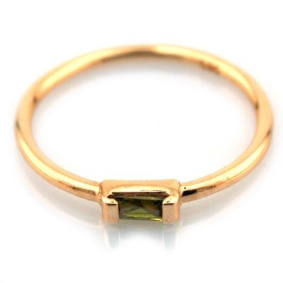 Yeşil Taşlı Altın Eklem Yüzüğü (14 Ayar)