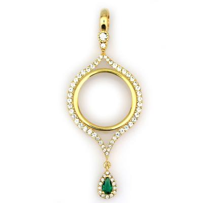 kuyumcunuznet - Yeşil Taşlı Çeyrek Altın Çerçevesi (14 Ayar)