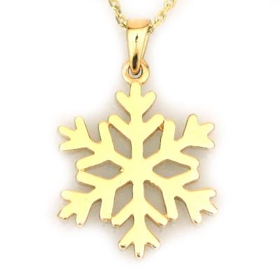 kuyumcunuznet - Zarif Yıldız Kar Tanesi Altın Kolye (14 Ayar)